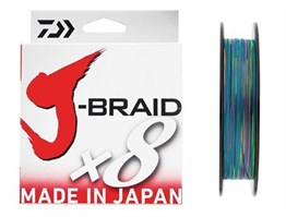 DAİWA J-BRAİD 8 KAT 150M MULTİCOLOR RENKLİ İP MİSİNA # 0,18 MM