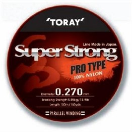 TORAY SUPER STRONG PRO TYPE 0,27 MM 150 M / ŞEFFAF